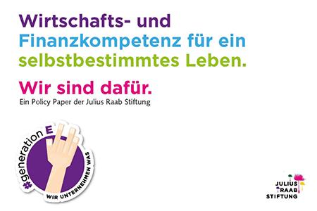 """[Julius Raab Stiftung] Webinar zum Policy Paper """"Wirtschafts- und Finanzkompetenz für ein selbstbestimmtes Leben"""""""